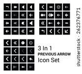 60  big back arrow icon set...