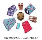 collection of bright summer...   Shutterstock . vector #262378157