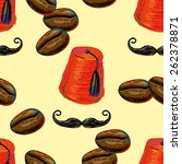 turkish seamless pattern with... | Shutterstock .eps vector #262378871