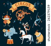 a set of circus characters.... | Shutterstock .eps vector #262379159