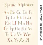 vector hand draw alphabet with... | Shutterstock .eps vector #262379285