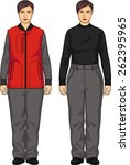 the suit for the woman consists ... | Shutterstock .eps vector #262395965