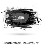 watercolor grunge black and... | Shutterstock .eps vector #262396079