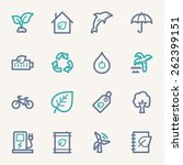 green ecology web icons set | Shutterstock .eps vector #262399151