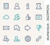 social media web icons | Shutterstock .eps vector #262399241