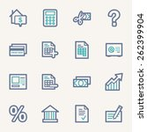 finance and banking icons | Shutterstock .eps vector #262399904