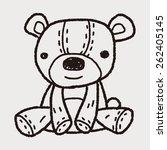 doodle teddy | Shutterstock . vector #262405145