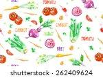 vector hand drawn vegetable... | Shutterstock .eps vector #262409624