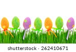 easter colored eggs isolated on ... | Shutterstock . vector #262410671