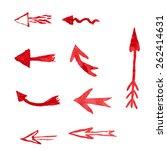 arrow painted in watercolor | Shutterstock .eps vector #262414631