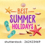 best summer holidays colorful... | Shutterstock .eps vector #262423469