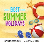 best summer holidays colorful... | Shutterstock .eps vector #262423481