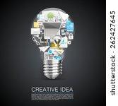 creative idea of flat collage...   Shutterstock .eps vector #262427645