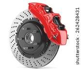 automobile braking system.... | Shutterstock . vector #262428431