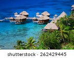 blue and turquoise lagoon and...   Shutterstock . vector #262429445