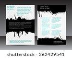 abstract brochure design.flyer... | Shutterstock .eps vector #262429541