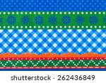close up photo of a patterned... | Shutterstock . vector #262436849