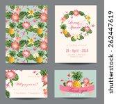 invitation congratulation card... | Shutterstock .eps vector #262447619