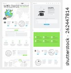 set of two flat pages website... | Shutterstock .eps vector #262447814