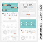 set of two flat pages website... | Shutterstock .eps vector #262447829