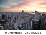 new york city skyline aerial... | Shutterstock . vector #262453211