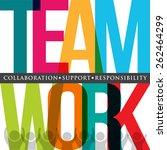 teamwork people logo typography    Shutterstock .eps vector #262464299
