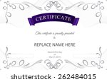 certificate border  certificate ... | Shutterstock .eps vector #262484015