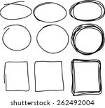 hand drawn scribble  set of... | Shutterstock .eps vector #262492004