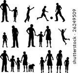 family silhouettes | Shutterstock .eps vector #26249509