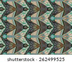 seamless pattern with magical... | Shutterstock .eps vector #262499525