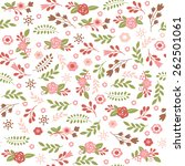 floral seamless pattern  | Shutterstock .eps vector #262501061