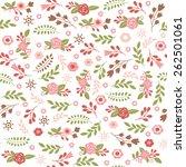 floral seamless pattern    Shutterstock .eps vector #262501061