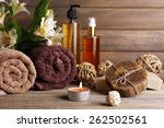 beautiful spa composition with... | Shutterstock . vector #262502561