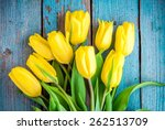 Bouquet Of Yellow Tulips On A...