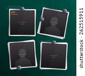 vector set of empty photo...   Shutterstock .eps vector #262515911