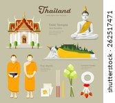 thai buddha and temple with... | Shutterstock .eps vector #262517471