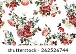 Stock photo seamless floral pattern with roses watercolor 262526744