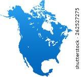 north america map | Shutterstock .eps vector #262527275
