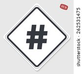 hashtag sign icon. flat design... | Shutterstock .eps vector #262531475