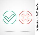 flat line check marks icons.