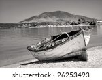 Abandoned Fisherman Boat On Th...