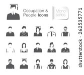 occupation   people related... | Shutterstock .eps vector #262535771