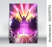 disco party background   vector ... | Shutterstock .eps vector #262539701