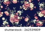 seamless floral pattern with... | Shutterstock . vector #262539809
