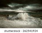 view of storm seascape   Shutterstock . vector #262541924