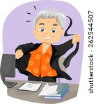 illustration of a senior...   Shutterstock .eps vector #262544507