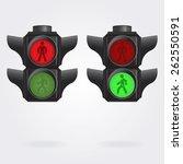 realistic pedestrian traffic... | Shutterstock .eps vector #262550591