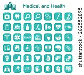 medical and health big icon set | Shutterstock .eps vector #262552895