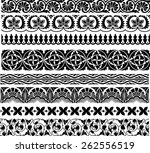 set of the eight ornamental... | Shutterstock .eps vector #262556519