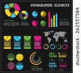 set of infographic element... | Shutterstock .eps vector #262557584